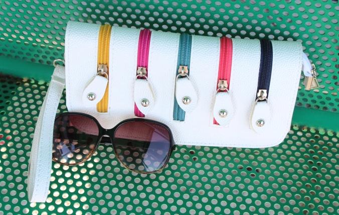 white purse